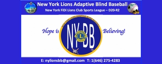 NEW YORK LIONS SPORTS LEAGUE BLIND BASEBALL TEAM