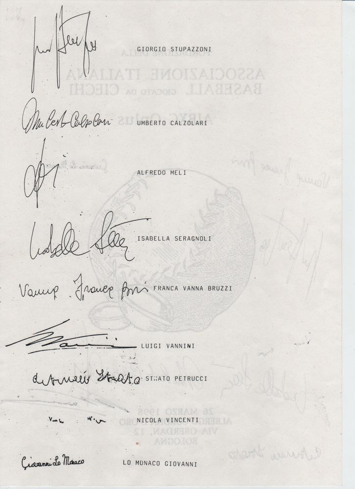 firme autogafe dei soci fondatori